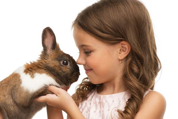 bunnies and children