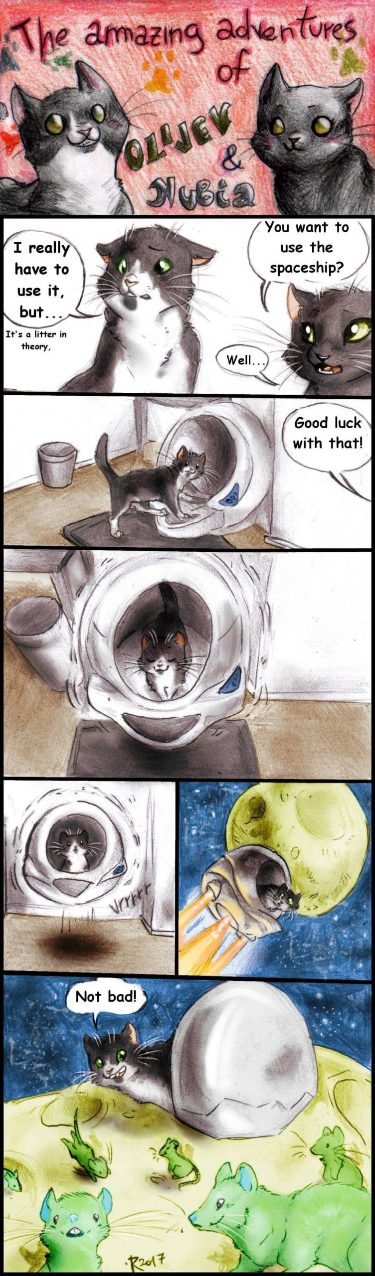 Blast From the Past: Cat Adventures in the Spaceship Part 1