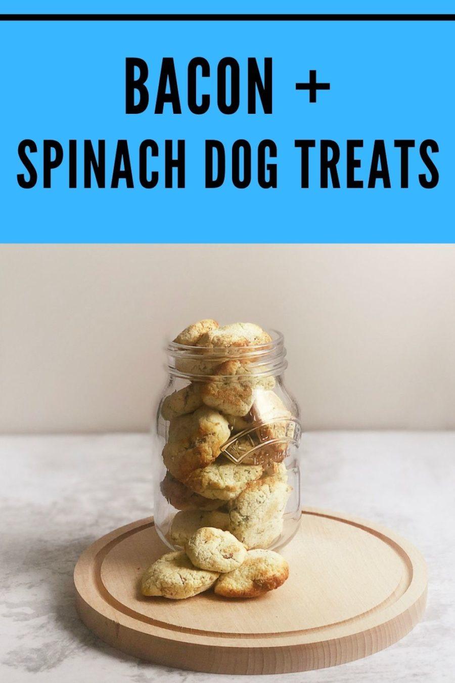 Homemade Spinach and Bacon Dog Treats